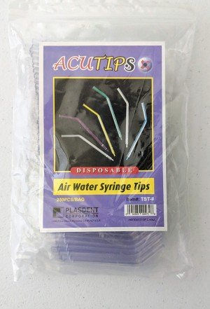 Plasdent® Acutips Disposable Air Water Syringe Tips, clear, 250/pack