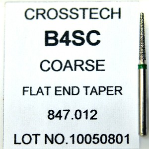 Cross Tech® Diamond Burs, B4SC, Flat End Taper, coarse, 5/pack
