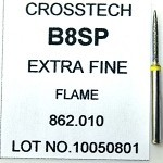 Cross Tech® Diamond Burs, B8SP, Flame, extra fine, 5/pack