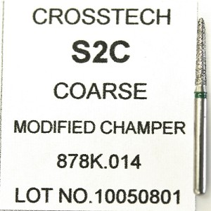 Cross Tech® Diamond Burs, S2C, Modified Chamfer, coarse, 5/pack