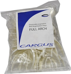 Cargus® Disposable Bite Registration Trays, full arch, 30/bag