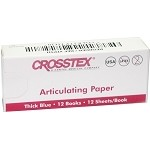 Crosstex® Articulating Paper, Thick Blue, 12 books of 12 sheets, 144/pack