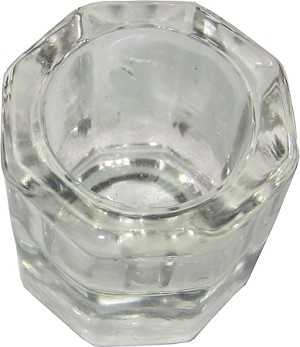 Dappen Dish, glass, clear, 1/pack