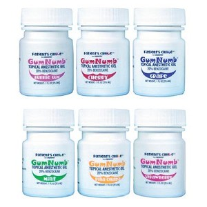 Crosstex® GumNumb® Topical Anesthetic Gel, Benzocaine 20%, Pina Colada, 1oz jar