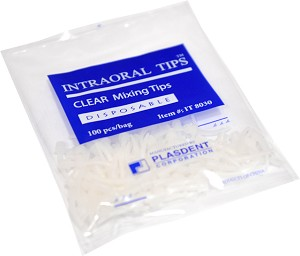 Plasdent® Intraoral Tips™ Disposable Mixing Tips, clear, 100/pack
