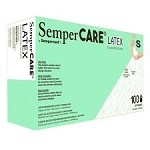 SemperCARE® by Sempermed® Latex Powder Free Gloves, small, 100/box
