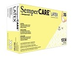 SemperCARE® by Sempermed® Latex Powder Free Gloves, x-small, 100/box