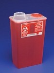 Covidien Sharps Container, chimney top, red, 14 QT